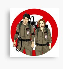 Ghostbusters Files - Mulder & Scully Canvas Print