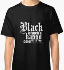 Camiseta clásica All Black Everything - Fuente blanca