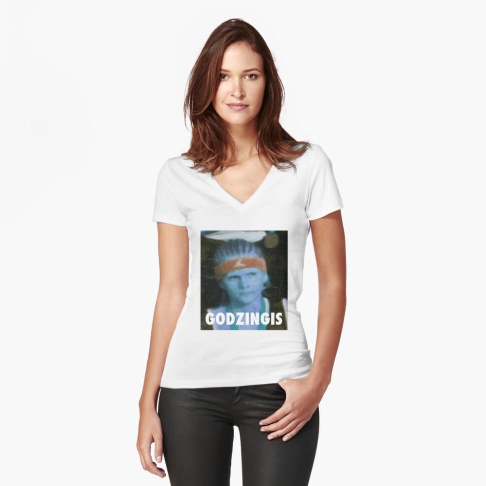 KRISTAPS PORZINGIS (GODZINGIS) KNICKS Tailliertes T-Shirt mit V-Ausschnitt