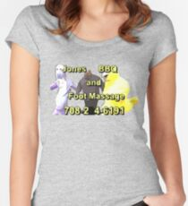 Jones BBQ and Foot Massage Women's Fitted Scoop T-Shirt