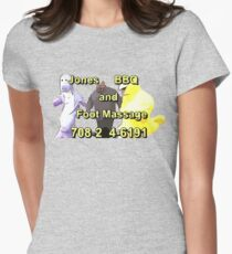 Jones BBQ and Foot Massage Women's Fitted T-Shirt