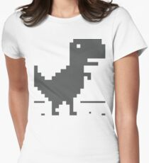 Unable to connect to the internet - Dinosaur Womens Fitted T-Shirt