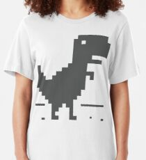 Unable to connect to the internet - Dinosaur Slim Fit T-Shirt