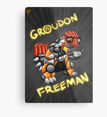 Groudon Freeman Metal Print