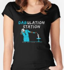 Dabulation Station Women's Fitted Scoop T-Shirt