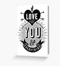 Love Is The Bridge Greeting Card