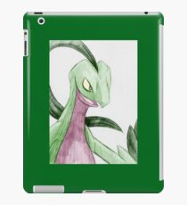 Portrait of a Grovyle V1b iPad Case/Skin