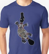Authentic Aboriginal Art - Platypus Unisex T-Shirt