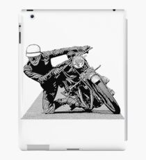 1940s Vintage Motorcycle Racer Graphic iPad Case/Skin