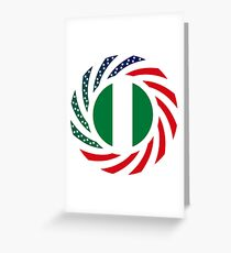 Nigerian American Multinational Patriot Flag Series Greeting Card