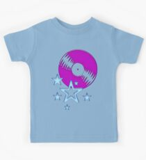 party - sky, star, music, disco, funny Kids Tee