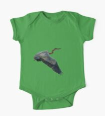 Great blue heron in fly One Piece - Short Sleeve