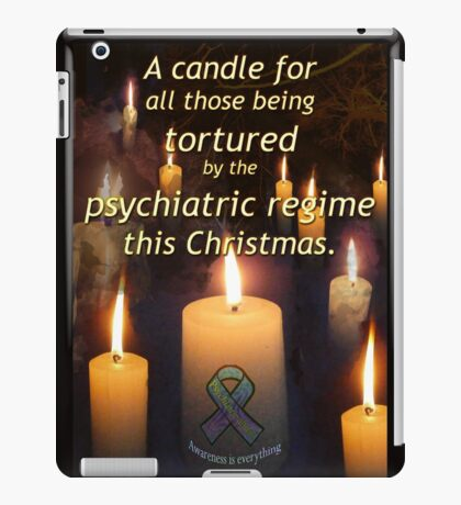 A candle for all those tortured by the psychiatric regime this Christmas iPad Case/Skin