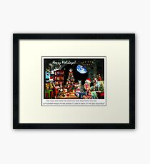 Merry Sci Fi Christmas! Framed Print