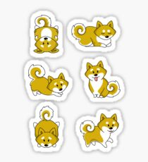 Playful Shiba Inu and Temari Sticker
