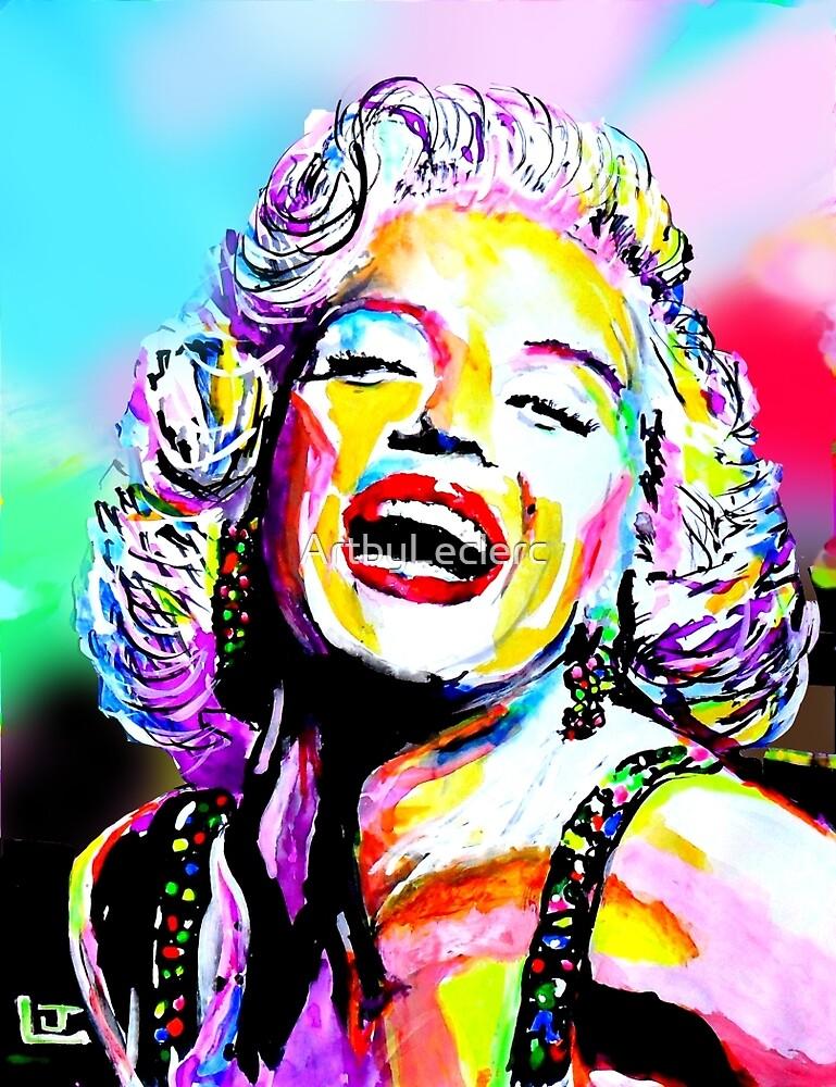Marilyn Monroe by ArtbyLeclerc