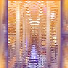 Purple Copper Abstract Reflection Repeating Pattern by Beverly Claire Kaiya