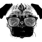 Nerdy Pug Hipster Dog by pencilplus