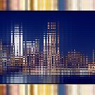 Bright Lights of the City NYC Rippling Abstract by Beverly Claire Kaiya
