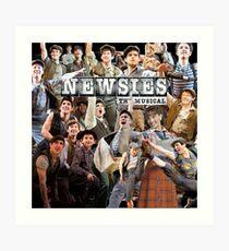 Newsies on Broadway photo collage Art Print