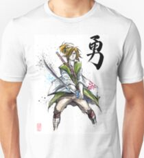 Link from Zelda Sumie style calligraphy COURAGE T-Shirt