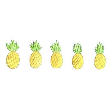 cute pineapples by vanessachammas