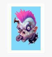 ZED HEADZ - Ear Worm Art Print