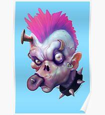 ZED HEADZ - Ear Worm Poster