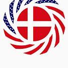 Danish American Multinational Patriot Flag Series by Carbon-Fibre Media