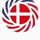 Danish American Multinational Patriot Flag Series by Carbon-Fibre Media