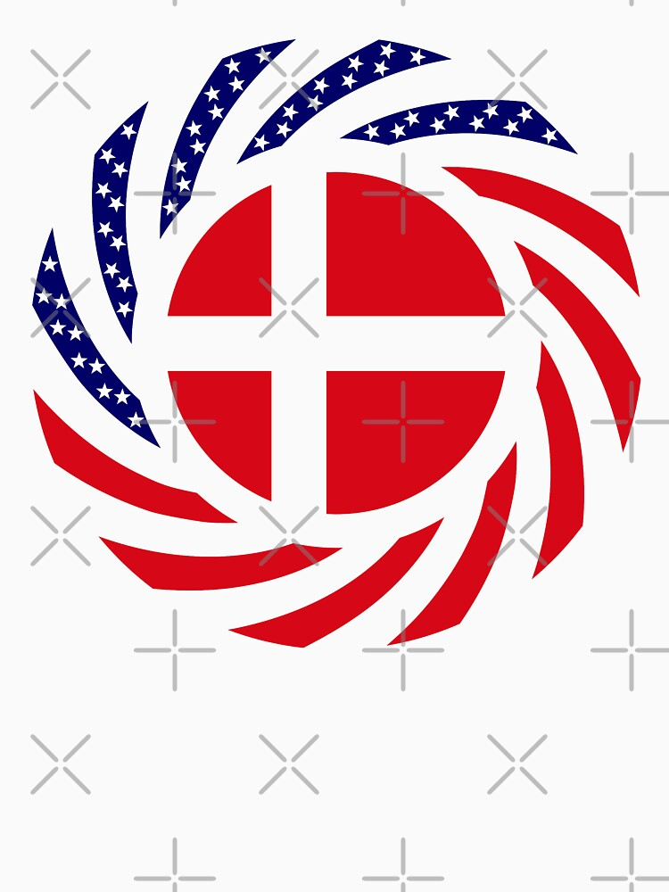 Danish American Multinational Patriot Flag Series by carbonfibreme