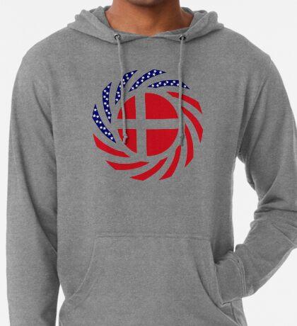 Danish American Multinational Patriot Flag Series Lightweight Hoodie