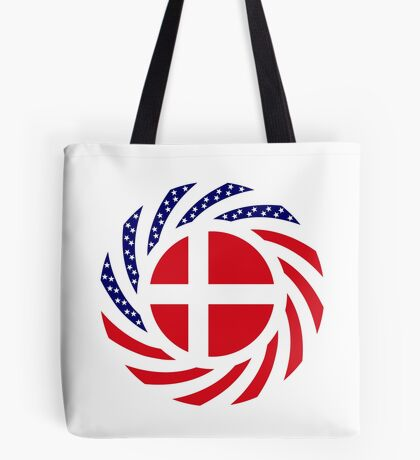Danish American Multinational Patriot Flag Series Tote Bag