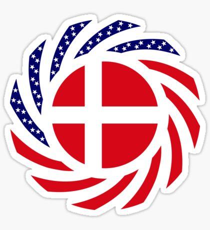 Danish American Multinational Patriot Flag Series Sticker