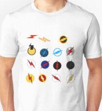 Flash Symbols Unisex T-Shirt