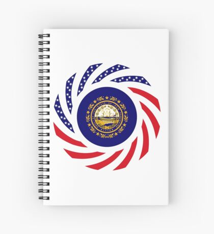 New Hampshire Murican Patriot Flag Series Spiral Notebook