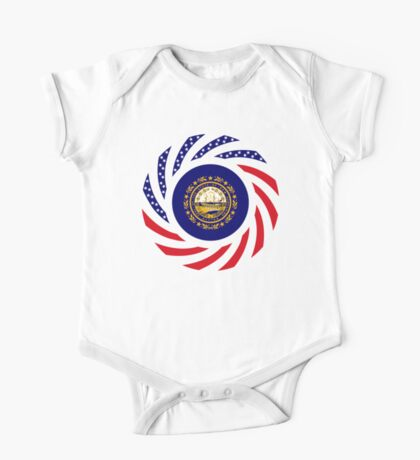 New Hampshire Murican Patriot Flag Series Kids Clothes