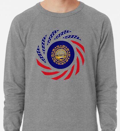 New Hampshire Murican Patriot Flag Series Lightweight Sweatshirt