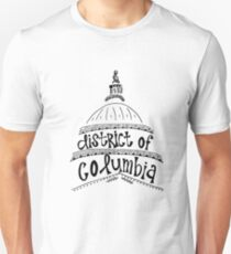 District of Columbia Zentangle Unisex T-Shirt