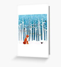 2016 Square Poster - Christmas Fox Greeting Card