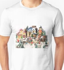 little town winter scene T-Shirt