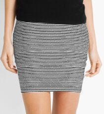 Lines, Lines and More Lines! - Graphite Mini Skirt