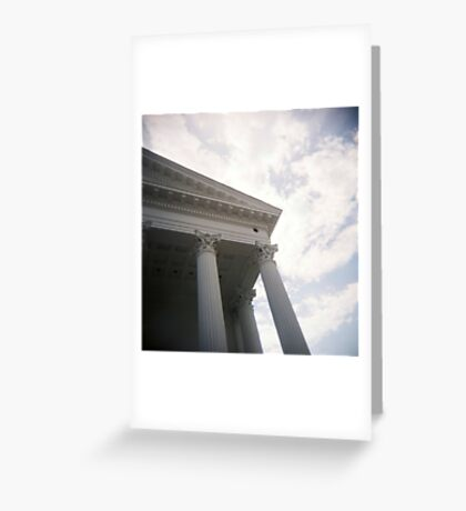 Columns and sky Greeting Card