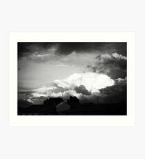Sky at dusk Art Print