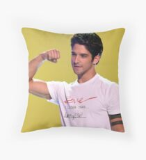Tyler Posey + arm muscles Throw Pillow