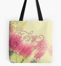 Beautiful Pink English Roses Shine Matte Sunlight Rays Tote Bag