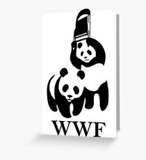WWF parody Greeting Card