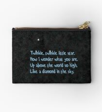 Twinkle twinkle, little star, Zipper Pouch