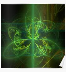 Green Knot Poster