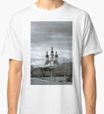 Majestic Ebersmunster Abbey outside view, Alsace, France Classic T-Shirt